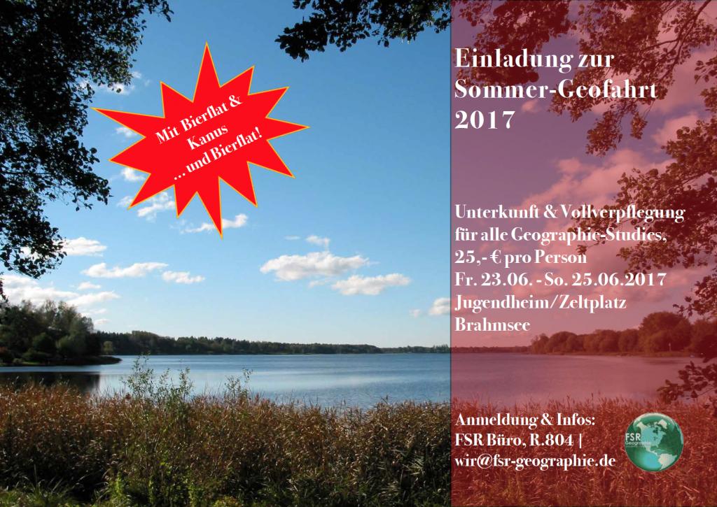Sommergeofahrt Poster